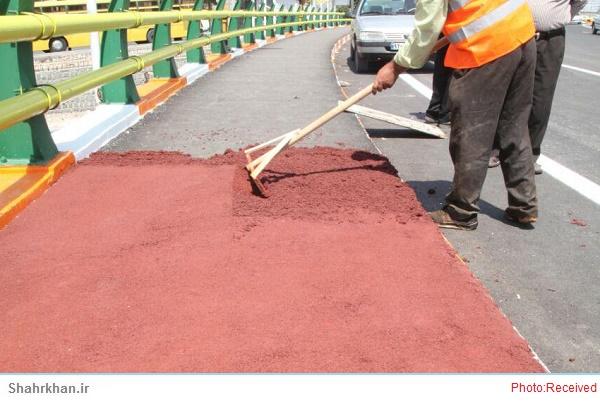 تولید آسفالت رنگی در استان اردبیل شروع شد