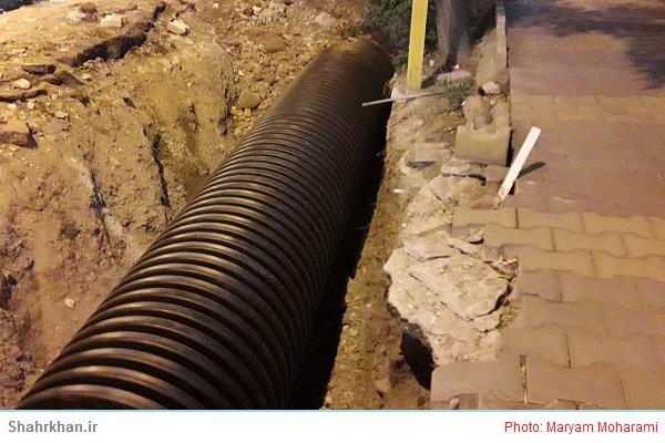 احداث آبروهای زیرزمینی خیابان شیخ صفی ادامه دارد