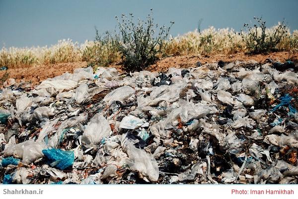 زباله های انباشته شده در خلخال