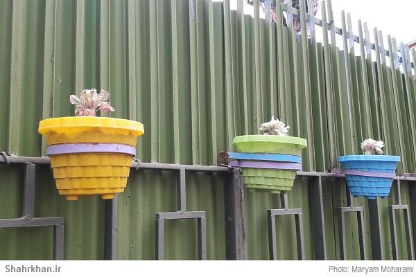 گلدان فضای سبز