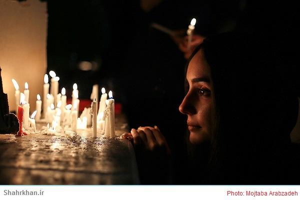 """شمع گردانی""""شام پایلاماق"""" در تاسوعای حسینی"""